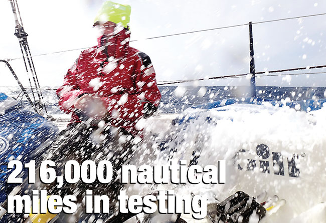 216,000 nautical miles in testing