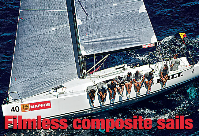 Filmless composite sails
