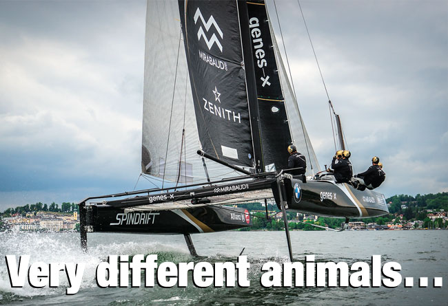 Very different animals…