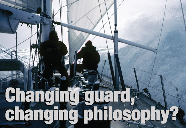 Changing guard,